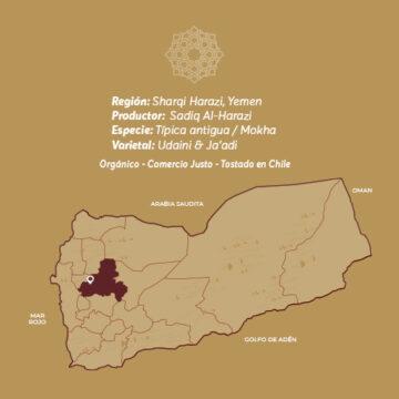 HARAZI PREMIUM Café De Especialidad De Yemen Mokha Bunn