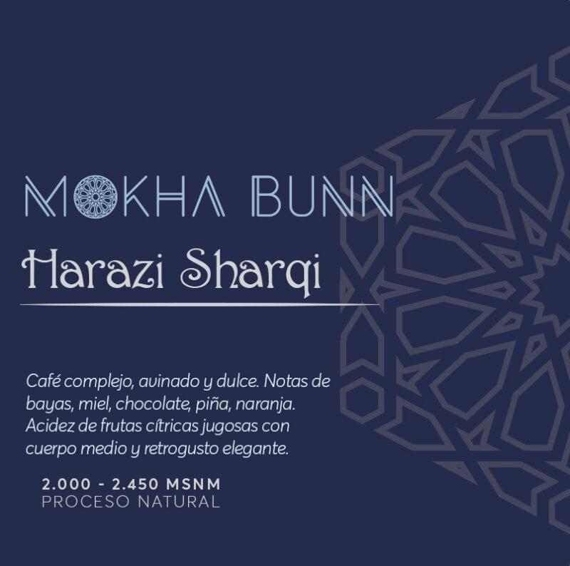 Harazi Sharqi café de especialidad. Microlote Mokha Bunn