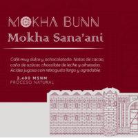 Mokha Sana'ani afé de especialidad Mokha Bunn