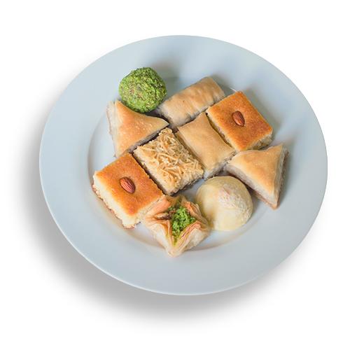 Bandeja de dulces árabes Mokha Bunn