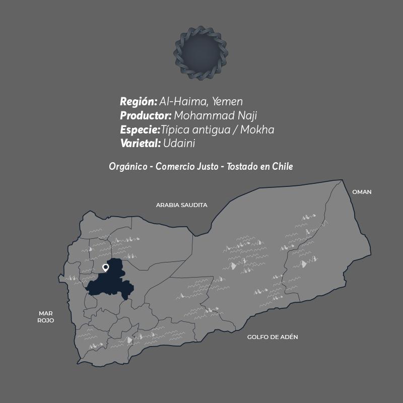 Haimi Café De Especialidad De Yemen Mokha Bunn Chile