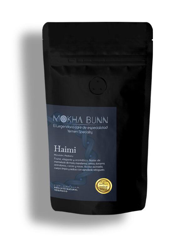 Haimi Café de especialidad de Yemen Microlote Peaberry,organico de Mokha Bunn Chile