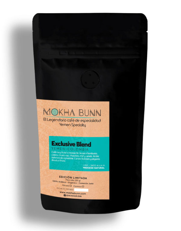 EXCLUSIVE BLEND Café De Especialidad De Yemen Mokha Bunn