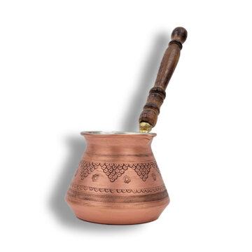 Ibrik Cezve Cafetera Turca/ Arabe De Cobre Moderna Bronce MOkha Bunn Chile