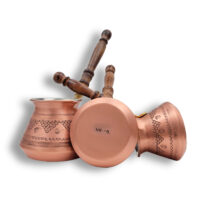 Ibrik / Cezve | Cafetera Turca/ Arabe De Cobre Moderna Bronce MOkha Bunn Chile